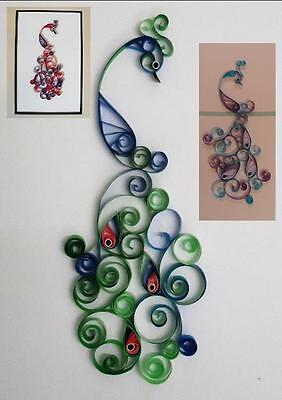 Peacocks for Cards & Wall Art Quilling Kit