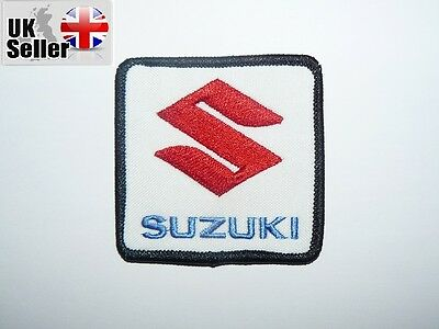 Suzuki Iron-on/sew-on Embroidered Patch Motorcycle Biker