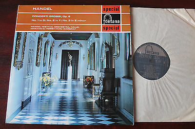 Fontana Sfl 14063 Handel Concerti Grossi Op 6 Lp Margraf Nm (1968) Uk