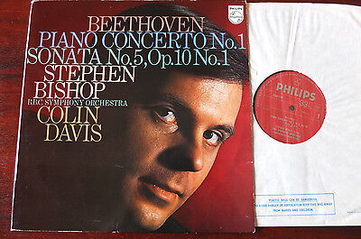 Philips 6500 179 Beethoven Piano Conc 1 Lp Bishop Nm England (1970)