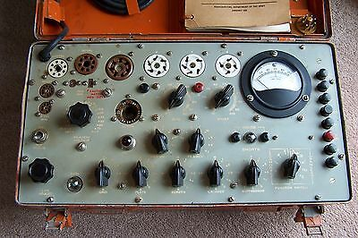 1960's Hickok Military Tv-7/u Tv-7 Mutual Conductance Radio Tube Tester Vintage