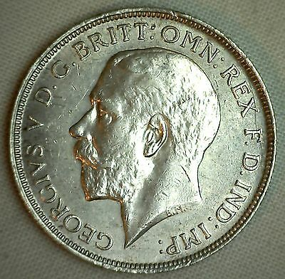 1912 Silver British Florin 2 Schilling UK Great Britain English Coin XF