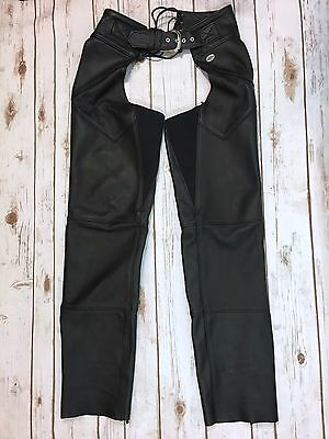 Harley-Davidson Womens Size Small Black Leather Motorcycle Chaps