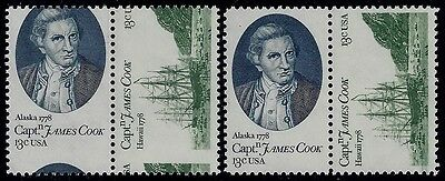 "1732 - 1733a Scarce Misperf Error /  EFO Pair ""Captain Cook""  Mint NH"