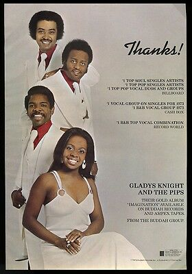 1973 Gladys Knight and the Pips photo Imagination trade print ad
