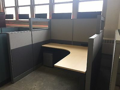 CUBICLE/PARTITION SYSTEM w/ GLASS by TEKNION OFFICE FURNITURE