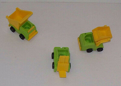 Dump Truck Fork Lift Scoop Loader for Little People Lift and Load Sets
