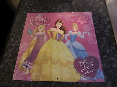 Disney Princess Official 2017 Wall Calendar Bniw Free Uk Post Girls Bedroom