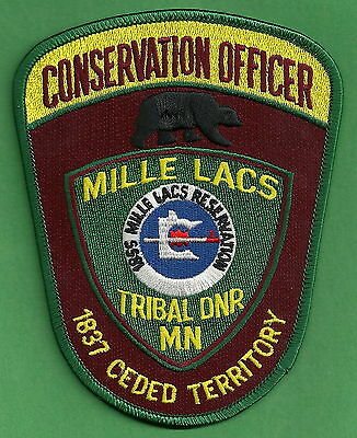 Mille Lacs Minnesota Tribal Conservation Officer Police Patch