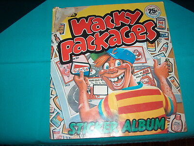 "Topps ""wacky Packages"" 1982 Sticker Album Made In Italy With Lots Of Stickers In"