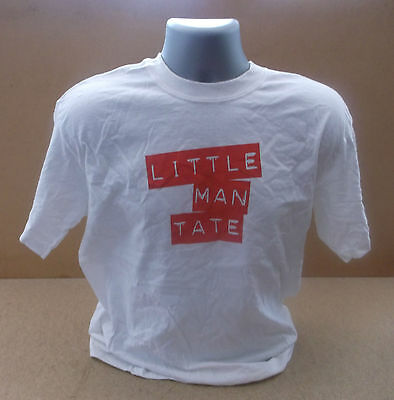 LITTLE MAN TATE Logo 2006 UK promo white T shirt NEW/UNWORN Medium