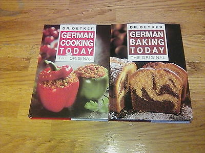 German Cooking Today & German Baking Today - 2 Dr. Oetker Hard Cover Books