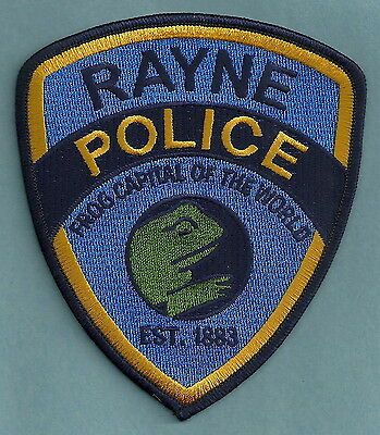 Rayne Louisiana Police Department Patch World Frog Capital
