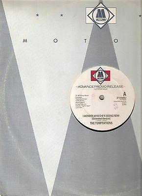 """The Temptations – I Wonder Who She's Seeing Now (1987 PROMO Vinyl 12"""")"""