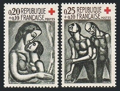 France B356-B357,MNH.Michel 1376-1377. Red Cross-1961.by Georges Rouault.