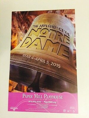 Disney's HUNCHBACK OF NOTRE DAME Window Card Poster Paper Mill Playhouse
