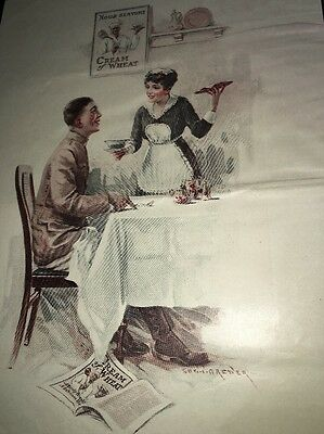 Cream Of Wheat Ad Rastus  Black Man Memorabilia 1918 WWI Soldier & Lady