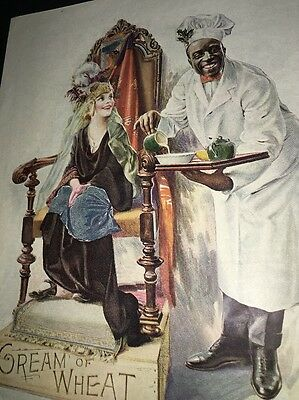 Cream Of Wheat Ad Rastus  Black Man Memorabilia 1923 Queens Taste Brewer Art