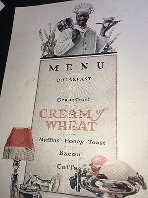 Cream Of Wheat Ad Rastus Black Man Memorabilia  1919 Art Deco Food