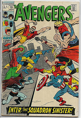 Marvel Comic Avengers #70 G- 1.8 1St Squadron Sinister Budget Collect Investment