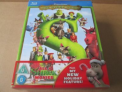 Shrek 1 2 3 4  - Complete Collection (Blu-ray 4-Disc Box Set) NEW AND SEALED