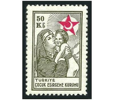 Turkey RA 48,hinged.Michel RH 60. Postal Tax Stamps 1949.Nurse with child.