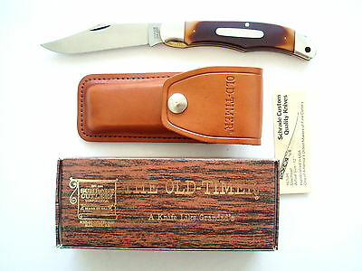 Original Usa Made Schrade 1250T Mustang Old Timer Linerlock Knife