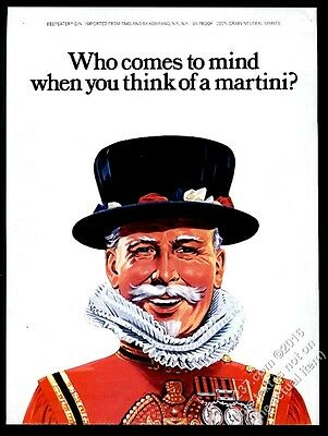 1976 Beefeater gin classic color art vintage print ad