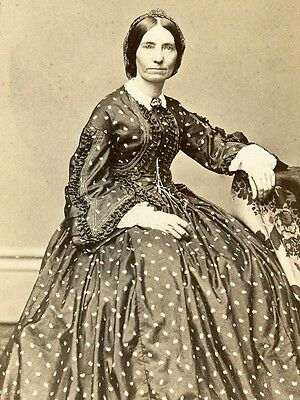 1860s CDV AGNES W EVANS SECOND WIFE OF MORRISON OF LOCKPORT NEW YORK