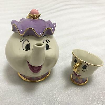 Beauty And The Beast Teapot Cartoon Mug Mrs Potts Chip Tea Pot Cup Set Lovely