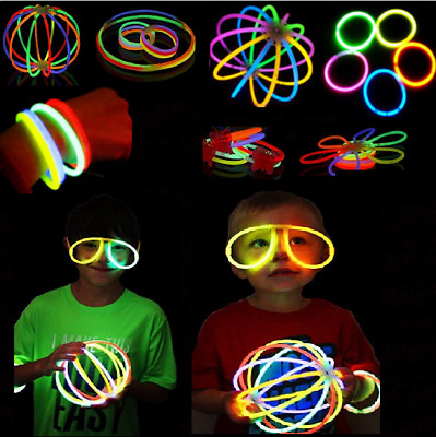 Magic Glow Sticks Bracelets Necklaces Fluorescent  Neon Party  Wedding Supplies
