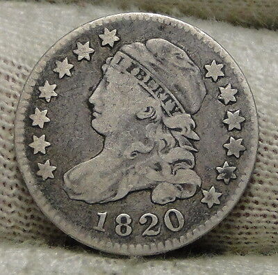 1820 Capped Bust Dime 10 Cents - Nice Coin, Free Shipping  (2577)