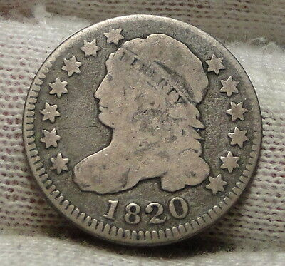 1820 Capped Bust Dime 10 Cents - Nice Coin, Free Shipping  (4789)