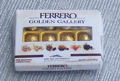 1:12 Scale Oblong Display Box Of Ferrero Rocher Chocolates Dolls House Sweets GG