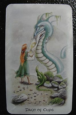 Page of Cups The Celtic Dragon Tarot Single Replacement Card Excellent Condition