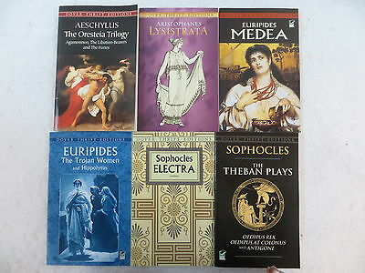 Lot of 6 ANCIENT GREEK PLAYS Aeschylus Aristophanes & More Dover Thrift Editions