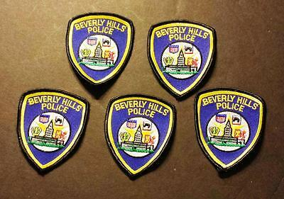Lot of 5 Vintage Beverly Hills Police Sew on Cheesecloth Patch