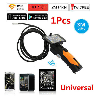 New 1x Wireless WIFI Endoscope Video Camera 2.4GHZ For Car Repair And Inspection