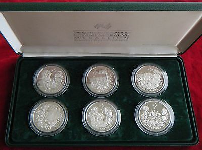 1988 The Australian Bicentennial Commemorative Sterling Silver Medallion Series