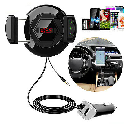 HIFI 4.1 Blutooth FM Transmitter with Car Phone Mount Mic Usb Charger and AUX In