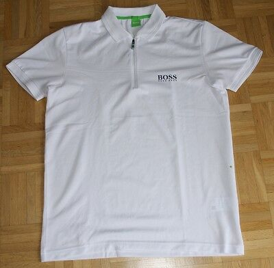 "Hugo Boss Green Slam Fit Golfpolo ""Prek Pro"", weiß, Gr. L"
