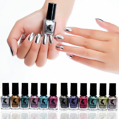 Womens Mirror Nail Polish Effect Multi-color Paint Chrome Metal Nail Art Polish