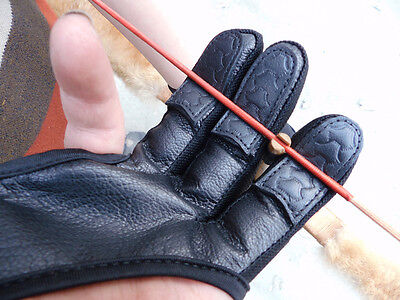 3 FINGERS ARCHERS Recurve Bows SHOOTING LEATHER GLOVE-HUNTING ARCHERY FREE GLOVE