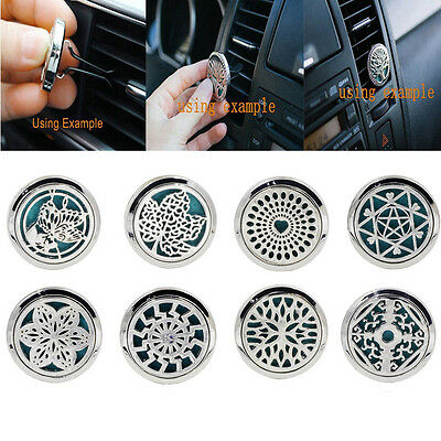 10 Style Stainless Car Air Vent Clip Freshener Essential Oil Diffuser Locket UK