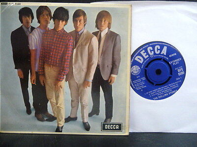 "THE ROLLING STONES E.P "" FIVE BY FIVE "" UNBOXED DECCA EX+ COND.IN EX+ Or.PIC SL."