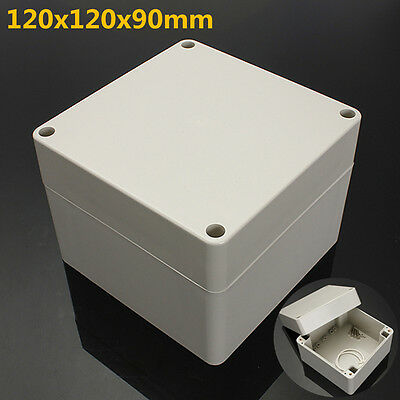 """4.7x4.7x3.5"""" ABS PLASTIC ELECTRONICS PROJECT BOX ENCLOSURE HOBBY CASE SCREW IP65"""