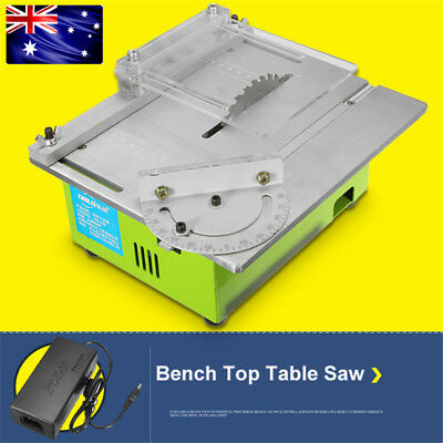 Portable Bench Top Table Saw Electric Wood Cutting Polishing Carving Machine AU
