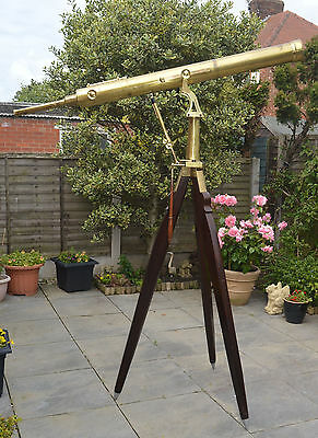 A very large telescope & tripod by S & B Solomons, c.1850 / 70