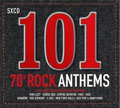 101 70s Rock Anthems - Various Artists (NEW 5CD)