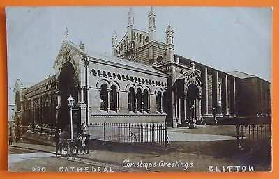 RP Postcard POSTED 1908 ROMAN CATHOLIC PRO CATHEDRAL CLIFTON BRISTOL